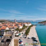 View over Trogir from the Kamerlengo Castle