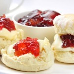 Traditional scones, jam and cream
