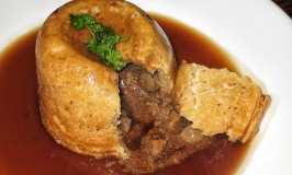 Steak and Kidney Pudding at the Stansfield Arms, Yorkshire