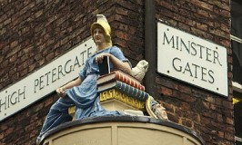 Woman and her Dove at Petergate