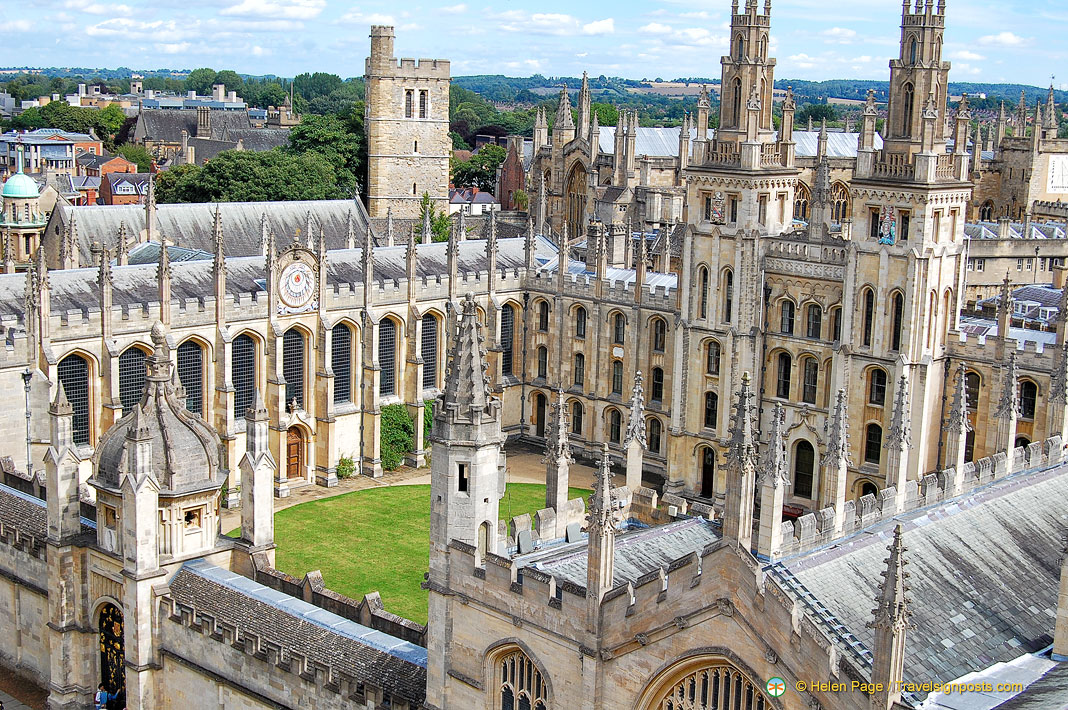 An Aerial View of Oxford - The City of Dreaming Spires