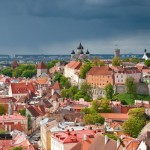Looking over Tallin's mediaeval skyline
