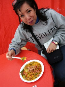 Great paella in the Market Square - Helsinki