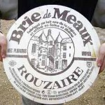 A wheel of Brie de Meaux