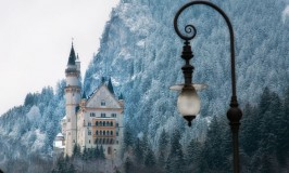 Ludwig's Castle of Neuschwanstein in winter