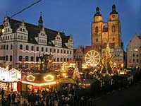 Weinachtsmarkt or Christmas market in Wittenberg, Germany