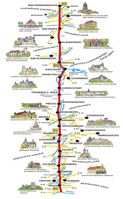 Beer And Castle Route Germany Driving Holiday - Germany map romantic road