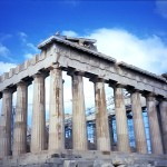 The Parthenon built for the goddess Athena