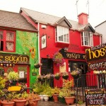 Colourful hotels and pubs in Killarney