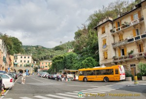 Bus stop in Portofino