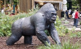 Statue of Guy the Gorilla - London Zoo..