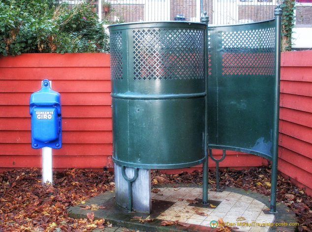 Vintage public lavatory, examples of which can still be found around Amsterdam