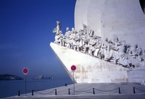Monument to the Explorers on the Belem waterfront, Lisbon