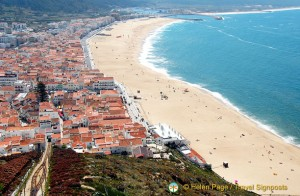 Nazare, viewed from Sitio