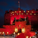 Edinburgh Castle all fired up