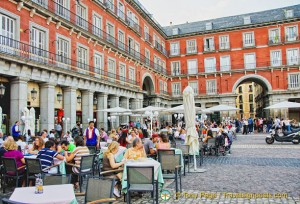 Cafes in Plaza Mayor