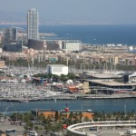 Aerial View of Port Vell, Barcelona