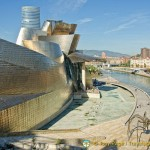 Bilbao Nervion River and Guggenheim Museum