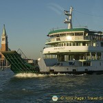 A car ferry on the Grand Canal in Venice