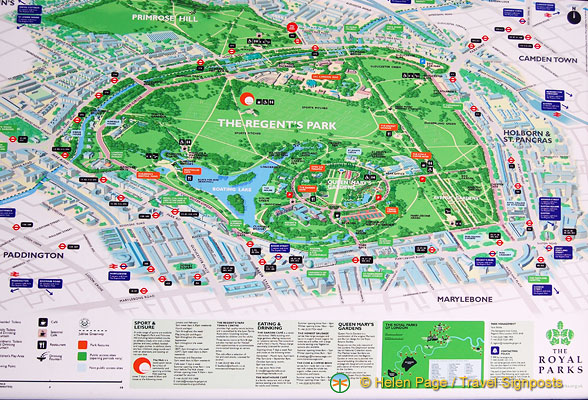 Map of Regents Park
