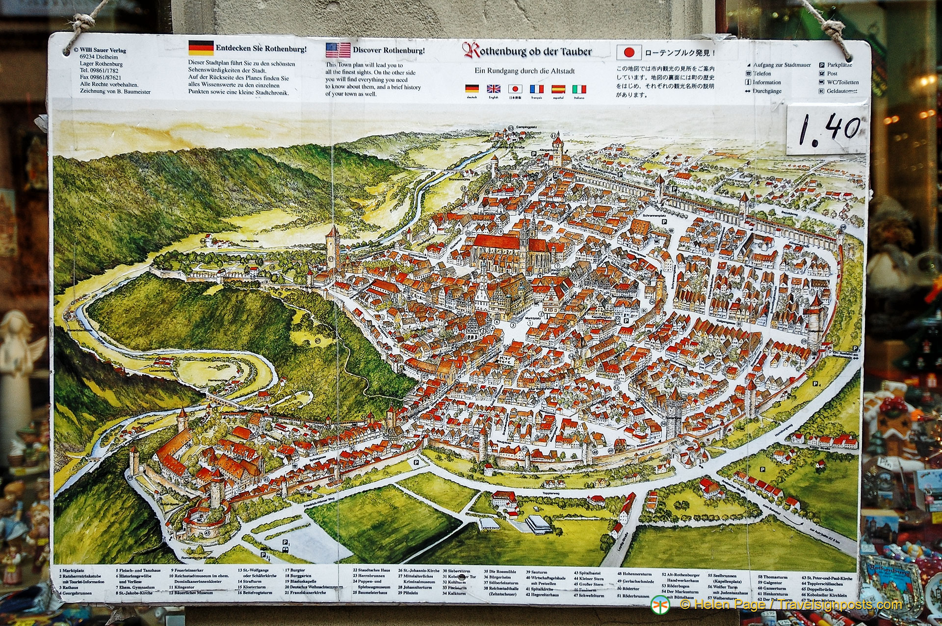 Map Of Rothenburg - Germany map full