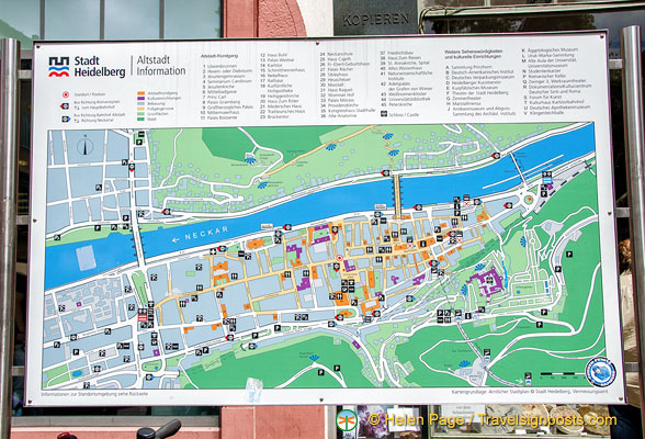 heidelberg city map