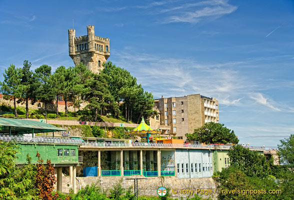 Hotel Monte Igueldo Is On Top Of This Hill About Metres Above - Metres above sea level
