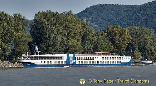 Our riverboat moored at Dürnstein