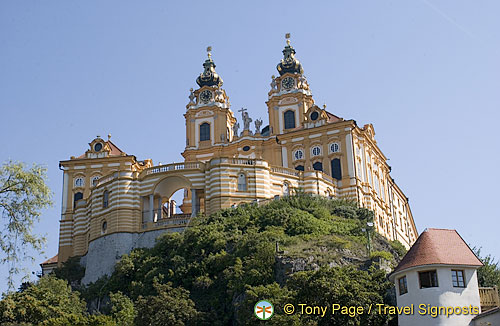 Melk Abbey still looks like a fortress today