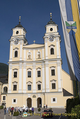 The wedding between Maria and Baron von Trapp was filmed in Basilica St Micahel