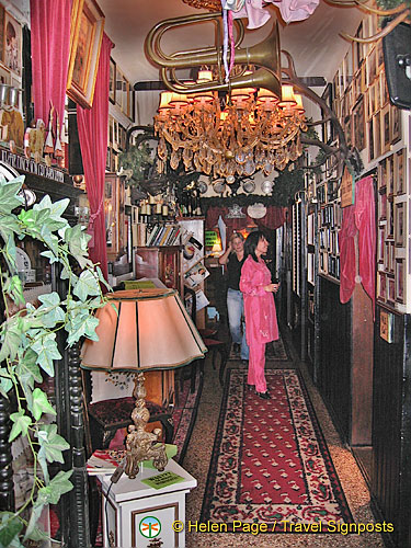 A most decorated hallway of the Marchfelderhof Restaurant