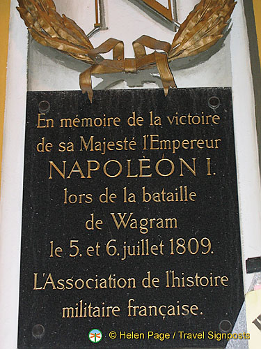 Plaque commemorating Napoleon's victory
