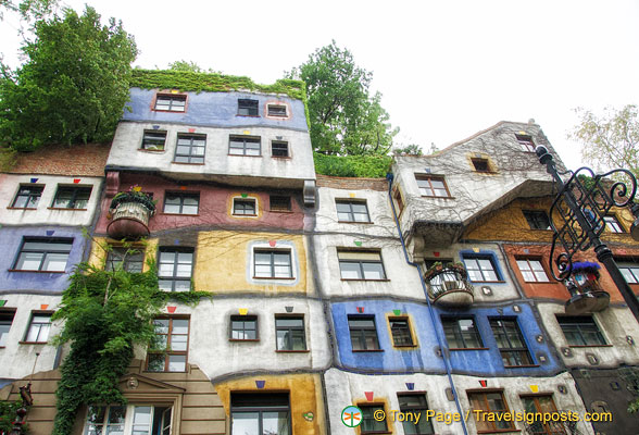 Colourful Hundertwasser apartments