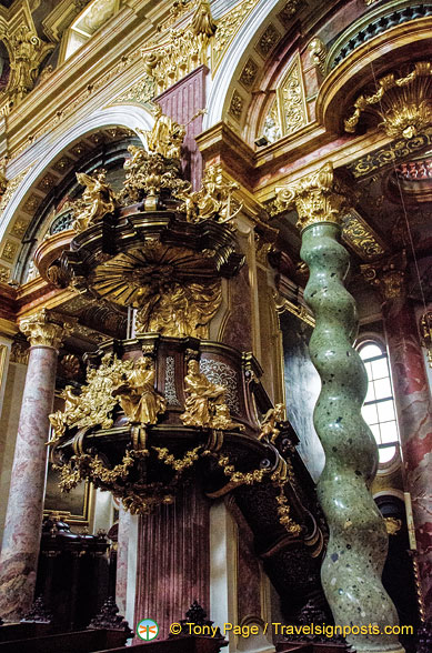 Jesuitenkirche - Ornate pulpit