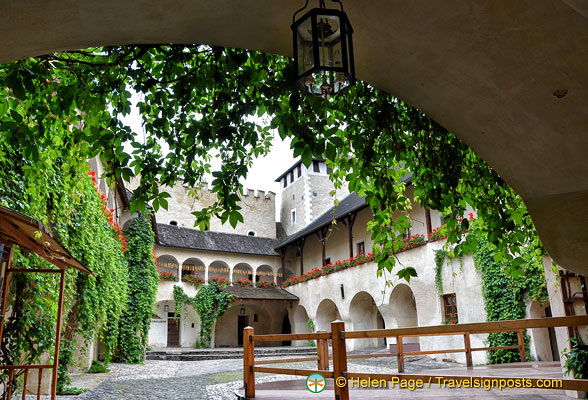 Beautiful courtyard of the Teisenhoferhof building