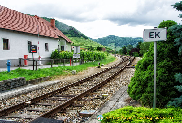 Railway track through Weissenkirchen