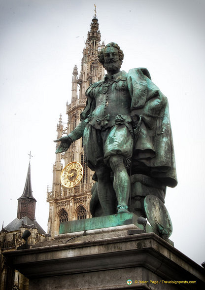 Statue of Rubens, Antwerp's most famous citizen
