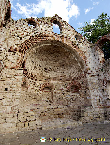 Semi-circular apse of Church of St Sophia