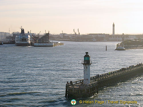 Channel ferry and road to Antwerp