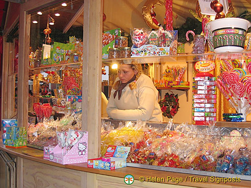 One of many candy stalls at the Cologne Weihnachtsmarkt
