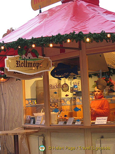A Rollmop stall at the Cologne Weihnachtsmarkt