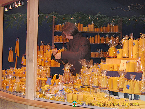 Candles for sale at Cologne Christmas market