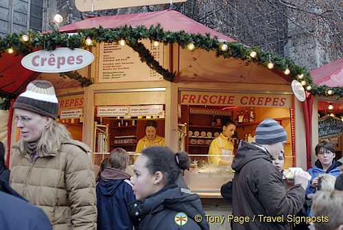 This frische crepes stall is popular with the teens