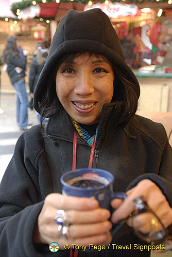 My first mug of gluhwein at Cologne Weihnachtsmarkt