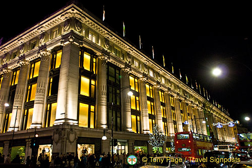 Christmas Lights at Selfridges in Oxford Street