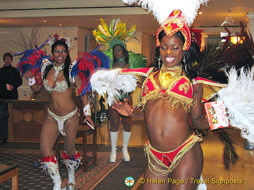The temperature shoots up as these girls samba their way around the reception