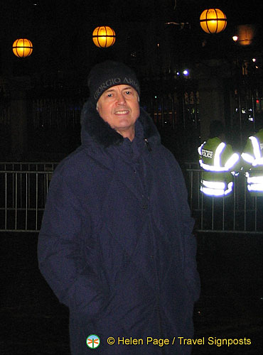 Tony, all rugged up for the cold