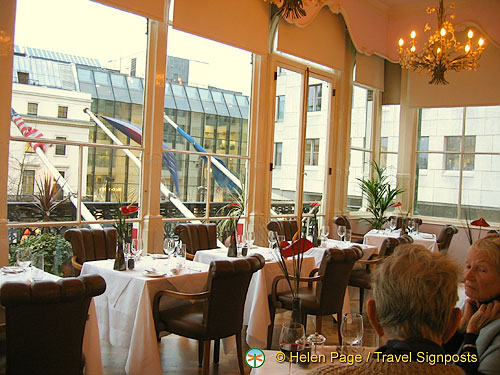 Dining Room at the Charing Cross Thistle Hotel