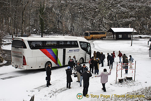 Our Insight coach arrives at the village of Hohenschwangau