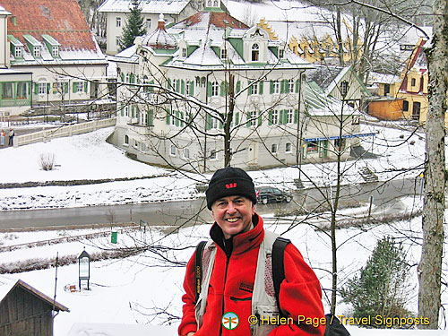 Tony views the Villa Jagerhaus and Hotel Lisl from the hill